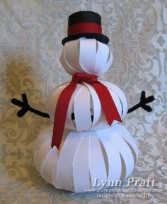 You can get the FREE tutorial to make this snowman on my blog!  http://stampndesign.blogspot.com/2010/10/three-pumpkin-snowman-tutorial.html