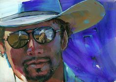 The rodeo arena is reflected in the sunglasses of this handsome cowboy. From my State Fair USA series. Fine art reproductions available on Fine Art America -Lesley Spanos