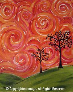 Cheers To Art - Cincinnati Ohio - Painting Studio. Signed up for a Mosiac Tree class :)