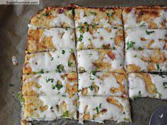 Grain Free Low Carb Cheesy Bread Sticks | SugarFreeMom.com
