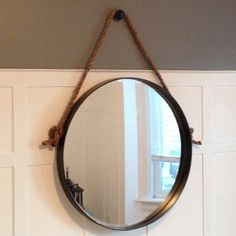 Decor Archives - Page 4 of 4 - Storefront Life Rope Mirror, Diy Mirror, Restoration Hardware Mirror, Tree Rope, Dollar Tree Mirrors, Round Mirrors, Industrial Chic, Store Fronts, Iron