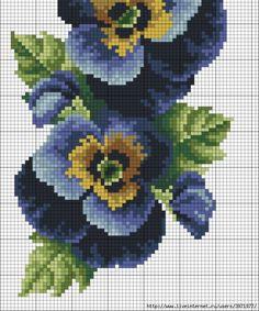17 x 42cm Thea Gouverneur Carnations Cross Stitch