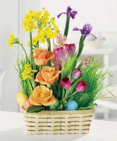 A Bountiful Basket of Joy by John Wolf Florist #Savannah Florist