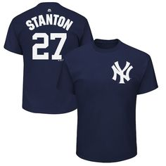 Giancarlo Stanton New York Yankees Majestic Youth Name   Number T-Shirt  Navy  NewYorkYankees aebb97104