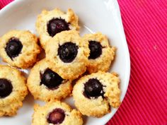 Grain Free Lemon Blueberry Cookies