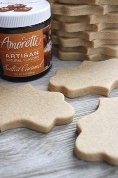 Salted Caramel Sugar Cookies ~ 6 Cakes & More, LLC - Salted Caramel Sugar Cookies stacked The Effective Pictures We Offer You About recipes for kids A - Cut Out Cookie Recipe, Cut Out Cookies, Sugar Cookies Recipe, Salted Caramel Sugar Cookie Recipe, Cookie Cutter Recipes, Pumpkin Sugar Cookies, Chocolate Sugar Cookies, Icing Recipe, Bruschetta Bar