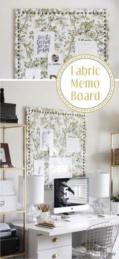 A memo board is the bet way to stay organized, but the ones in stores can be pretty plain and may feel out of place in your stylish room. Create your own fabric memo board with this DIY tutorial and make it a great addition to your room or office: http://www.ehow.com/how_4505519_make-fabric-memo-board.html?utm_source=pinterest.com&utm_medium=referral&utm_content=inline&utm_campaign=fanpage