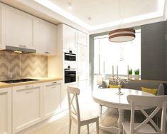 Интерьер кухни с лоджией. Кухня