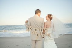 Modern Red and Aqua Outer Banks Wedding