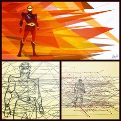 Story of 200x90 cm My #vectorial #portrait of #goldrake #Goldorak #Grendizer #dukefleed #actarus #atlasuforobot #vectorialworks by #diegosarti #vectorialart #illustration #Padgram