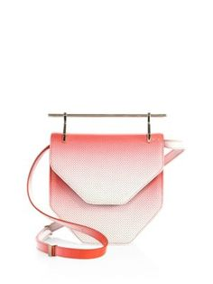 M2Malletier - Amor Fati Perforated Ombré Leather Shoulder Bag