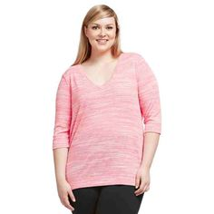 PRE-ORDER - Dipped Back ¾ Sleeve Knit Top (PINK MARLE ) $79.95 http://www.curvyclothing.com.au/index.php?route=product/product&path=95_104&product_id=6808&limit=100