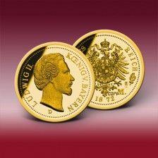 Goldneuprägung  20 Mark 1872  Ludwig II.
