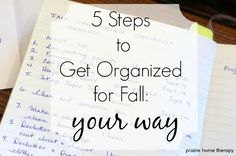 get organized for Fall: a great step by step to take action on any to do list! from Prairie Home therapy. Take Action, Getting Organized, Therapy, About Me Blog, Cards Against Humanity, Organization, Fall, Home, Autumn