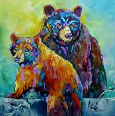 Two Bears by nanette oleson in the FASO Daily Art Show