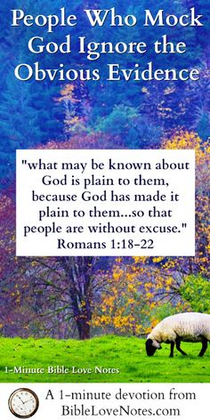 It's ironic that we so often blame God for our sins when He makes Himself so clear to us in so many ways. This 1-minute devotion explains