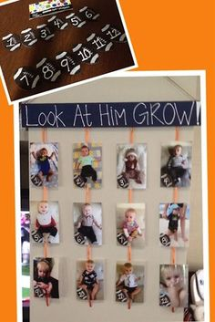 I love this timeline that shows our son's growth over the course of one year!