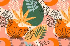 Geometric Shapes Art, Abstract Shapes, Vector Design, Vector Art, Spider Art, Plant Wallpaper, Leaf Drawing, Plant Illustration, Graphic Patterns