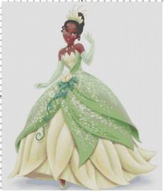 Tiana cross stitch pattern PDF by Bluegiantstitch on Etsy, £2.20