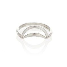 Silver banana split ring