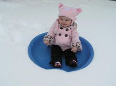 Baby's first time in snow! *without getting her wet and cold