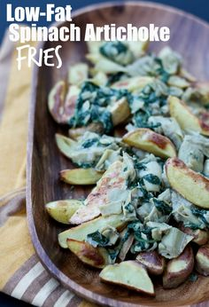 Low-fat High protein Spinach Artichoke Fries! So good, so easy and just 8 ingredients! Vegan, gluten-free, oil-free, nut-free.