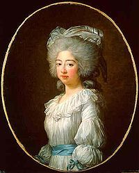 Marie Joséphine of Savoy (1753 - 1810). Titular Queen of France from 1795 to 1810. She was married to Louis XVIII but had no children. She fled France during the French Revolution and her husband did not gain the throne until after her death.