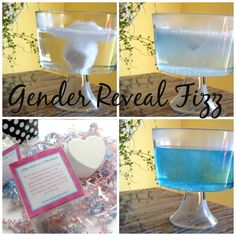 Gender Reveal Party Heart Shaped Reveal Fizz by SosiaToGo on Etsy, $15.00