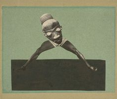 Hannah Höch, Untitled, photomontage, 1929, from an Ethnographic Museum.