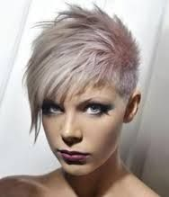shaved head at back long at front hairstyles - Google Search