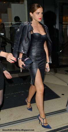 Emma Watson Leathers up in Paris by Andylatex on DeviantArt