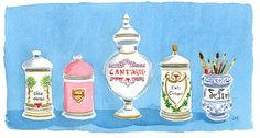 antique apothecary jars by caitlin mcgauley