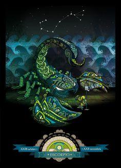 Zodiac Signs by Tony Ganem, via Behance