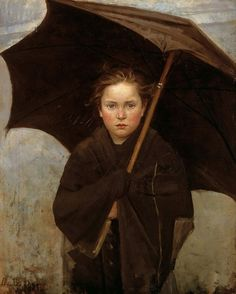 oldroze:      The Umbrella by Maria Bashkirceva (1858-1884)    Marie Bashkirtseff (born Maria Konstantinovna Bashkirtseva, Russian: Мария Константиновна Башкирцева; 24 November 1858 — 31 October 1884) was a Ukrainian-born diarist, painter and sculptor.