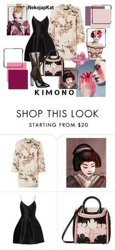 """NekoJapKat Kimono"" by neko-m-tucker-smith ❤ liked on Polyvore featuring VILA, Alexander McQueen and kimonos"