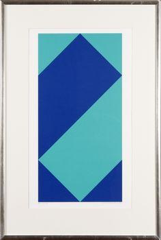 Lars-Gunnar Nordström, 1985, serigrafia, 64x37 cm - Hagelstam A125