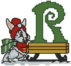Advanced Embroidery Designs - R is for Rabbit