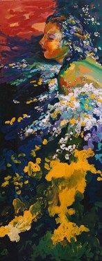 "Saatchi Online Artist Alejandra Quiros; Painting, ""Atardecer en el Mar"" #art"