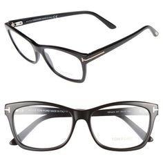 80634bf1a40 Women s Tom Ford 55Mm Optical Frames ( 345) ❤ liked on Polyvore featuring  accessories