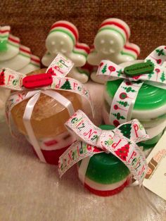 Jabones artesanales navideños !