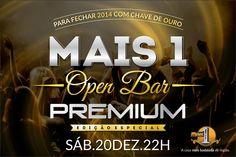 "Arte do flyer ""Mais 1 Open Bar Premium"" - frente"