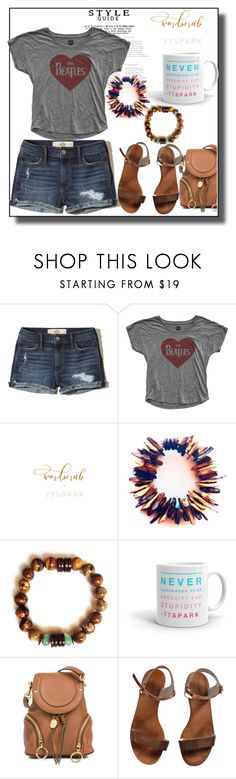 """77Spark"" by thesnow977 ❤ liked on Polyvore featuring Hollister Co., See by Chloé and Emporio Armani"