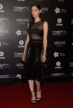Rooney Mara in Calvin Klein — Dubai Cares and Oxfam 'One Night Lives' Charity Gala
