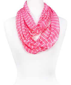 Another great find on #zulily! Pink Neon Thin-Stripe Infinity Scarf by Tickled Pink #zulilyfinds