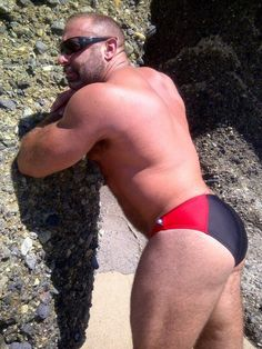 Rump-A-Licious beef bear in a tight, tight Speedo