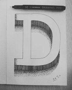 "Handlettering Font ""D"""