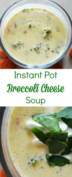 My favorite soup made even better now that I can make it in my Instant Pot! This Instant Pot broccoli cheese soup is a yummy, but super easy meal.