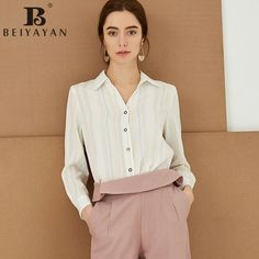BEIYAYAN 2017 New Arrival Cotton Basic Ladies Office Shirts Women's Striped Cuffed Long Sleeve Blouses AliExpress Affiliate's Pin. Click the VISIT button to enter the website The Office Shirts, Blouse Online, Working Woman, Free Shipping, Website, Lady, Long Sleeve, Cotton, Stuff To Buy