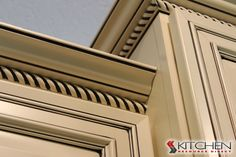 Adding rope molding to your crown is an extra detail that makes your cabinets stand out!