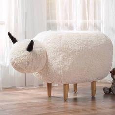 Google Express - Pearcy Velvet Sheep Ottoman by Christopher Knight Home (White Velvet)